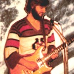 Dave Michael Valentine with Ibanez Musician guitar in space