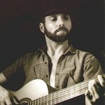 Dave Michael Valentine with classical guitar sepia