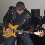 dave michael valentine playing lead guitar ibanez musician